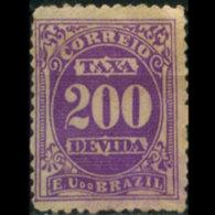 BRAZIL 1895 - Scott# J22 Numeral 200r MNH No Gum - Ongebruikt