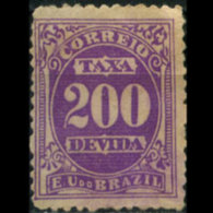 BRAZIL 1895 - Scott# J22 Numeral 200r MNH No Gum - Brésil