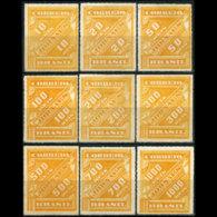 BRAZIL 1889 - Scott# P1-9 Numeral Set Of 9 MNH Gum Faults - Ongebruikt
