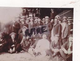 PHOTO ANCIENNE,69,RHONE,VILLEURBANNE,PRES LYON,LES BOULISTES DE VIABERT,JOUEUR DE BOULES,RARE,1907 - Places