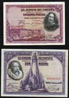 ESPAGNE: Bon Lot De 4 Billets. Date 1928/ 1979 - [ 3] 1936-1975 : Régence De Franco