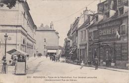 CPA  25  BESANCON  Place De La Révolution  RueGénéral Lecourbe  Cachet Pub AR - Besancon