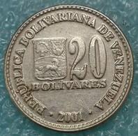 Venezuela 20 Bolívares, 2001 Nickel Plated Steel /magnetic/ - Venezuela