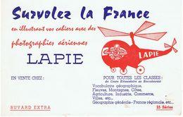 """BUVARD-""""SURVOLEZ LA FRANCE""""PHOTOGRAPHIES AERIENNES LAPIE-2 SCANS- - P"""