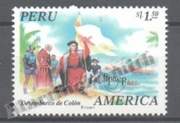 Perou - Peru 1995 Yvert 1052, América UPAEP, Discovery Of America - MNH - Perú