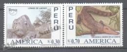 Perou - Peru 1996 Yvert 1076-77, América UPAEP - MNH - Perú