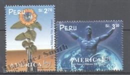 Perou - Peru 1999 Yvert 1211-12, América UPAEP, New Millenium Without Weapons - MNH - Perú