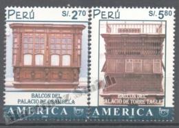 Perou - Peru 2001 Yvert 1303-04, América UPAEP, World Heritage - MNH - Perú