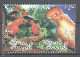 Perou - Peru 2001 Yvert 1347-48, América UPAEP, Fauna & Flora - MNH - Perú