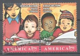 Perou - Peru 2007 Yvert 1698-99, América UPAEP, Education For All - MNH - Perú