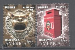 Perou - Peru 2011 Yvert 1990-91, América UPAEP, Letter Boxes - MNH - Perú