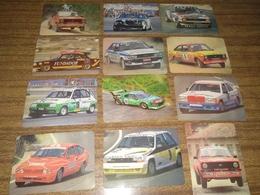 "12 Portuguese Pocket Calendars ""Carros,Car, Rallye, Renault, Audi, Peugeot..."", Advertising, Lisboa, Year 1986 - Calendari"