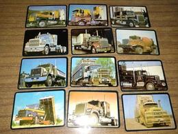 "12 Portuguese Pocket Calendars ""Carros,Car, Trucks..."", Advertising, Porto, Year 1988 - Calendari"