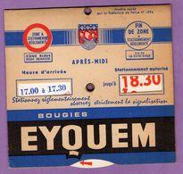 Disque De Stationnement Bougies Eyquem - Advertising