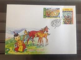 Mongolië / Mongolia - Postfris / MNH - FDC Kindertekeningen 2018 - Mongolië