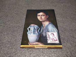 SPAIN MAXIMUM CARD ART PAINTING MUSEO ROMERO TORRES - NINA DE LA JARRA 1974 - Non Classificati