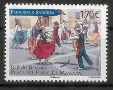 La Danse Des Bâtons, Plaça Del Poble,La Massana.Andorra. Un Timbre Neuf ** 2017 - Neufs