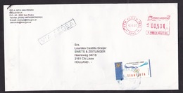 Argentina: Airmail Cover To Netherlands, 1997, 1 Stamp & Meter Cancel, Olympics, Logo, Bird (traces Of Use) - Argentinië