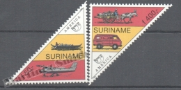 Surinam - Suriname 1994 Yvert 1337-38, America UPAEP, Postal Transport Vehicles - MNH - Surinam
