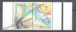 Surinam - Suriname 1999 Yvert 1543-44, America UPAEP, New Millenium With No Weapons - MNH - Surinam