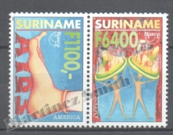 Surinam - Suriname 1999 Yvert 1579E-79F, America UPAEP, Fight Against AIDS - MNH - Surinam