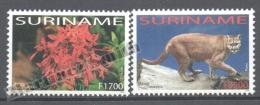 Surinam - Suriname 2003 Yvert 1677-78, America UPAEP, Fauna & Flora - MNH - Surinam