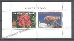 Surinam - Suriname 2003 Yvert BF 94, America UPAEP, Fauna & Flora - Miniature Sheet - MNH - Surinam