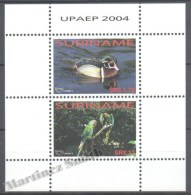 Surinam - Suriname 2004 Yvert BF 100, America UPAEP, Fauna, Birds - Miniature Sheet - MNH - Surinam