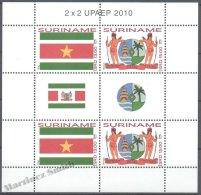 Surinam - Suriname 2010 Yvert 2169-70, America UPAEP, National Symbols - Sheetlet - MNH - Surinam