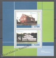 Surinam - Suriname 2001 Yvert BF-88, America UPAEP, Buildings - Miniature Sheet - MNH - Surinam