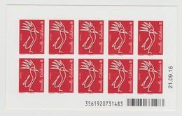 """Nouvelle Calédonie 2016 : Carnet De 10 Timbres à Validité Permanente """"le Cagou De S. Werling """" - Neuf ** - Jusqu'à 20g - - Unused Stamps"""