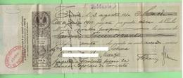Trieste 1910 Cambiale Da 40 Heller Per 380 Corone Austriache  Estinta Il 3/2/1911 Della Banca Popolare Trieste - Cambiali