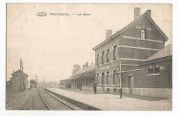 Noucelles La Gare Carte Postale Ancienne Sation Braine Le Château - Kasteelbrakel