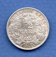 Allemagne  -  1/2 Mark 1911 A  -  Km # 17  -  état  TTB - 1/2 Mark