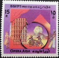 Egypt  1987 Opera Aida - Unused Stamps