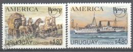 Uruguay 1994 Yvert 1487-88, America UPAEP, Postal Transport Vehicles - MNH - Uruguay