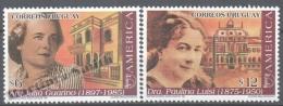 Uruguay 1998 Yvert 1759-60, America UPAEP, Famous Women - MNH - Uruguay