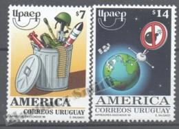 Uruguay 1999 Yvert 1850-51, America UPAEP, New Millenium Without Weapons - MNH - Uruguay
