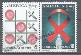 Uruguay 2000 Yvert 1925-26, America UPAEP, Fight Against AIDS - MNH - Uruguay