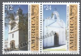 Uruguay 2001 Yvert 1977-78, America UPAEP, Buildings - MNH - Uruguay