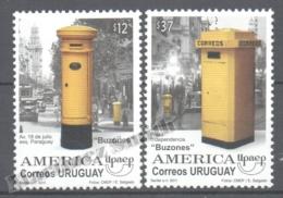 Uruguay 2011 Yvert 2514-15, America UPAEP, Letter Boxes - MNH - Uruguay