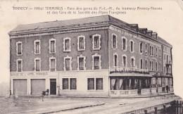 Annecy Hôtel Terminus Circulée En 1927 Avce Ambulant De Annecy à Aix-les-Bains - Annecy