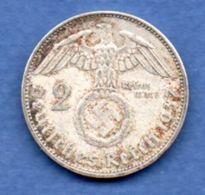 Allemagne  -  2 Reichsmark 1937 A  -  Km # 93  -  état  TTB+ - [ 4] 1933-1945 : Troisième Reich