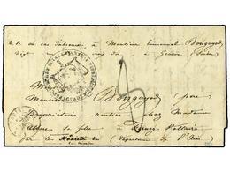 2033 GUADALUPE. 1841. Pre-stamp Envelope To FRANCE Cancelled By <B>PROCUREUR DU ROI A LA POINTE A PITRE/GUADELOUPE/CHART - Briefmarken