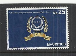 MAURITIUS 2017 - 250th ANNIVERSARY OF THE POLICE FORCE - USED OBLITERE GESTEMPELT USADO - Mauritius (1968-...)