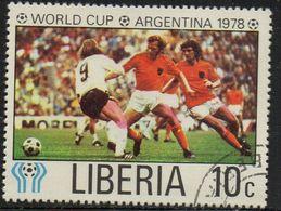 """PIA  -1978 :  LIBERIA - Campionati Del Mondo Di Calcio """"Argentina 78"""" - (Yv 780) - Liberia"""