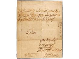2811 GIBRALTAR. (1727 CA.). Carta Firmada Por LORD PORTMORE (Gobernador De Gibraltar) Dirigida A La Reina De Inglaterra  - Briefmarken