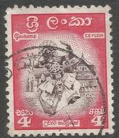 Ceylon. 1958-62 Definitives. Redrawn Inscriptions, 4c Used. SG 450 - Sri Lanka (Ceylon) (1948-...)