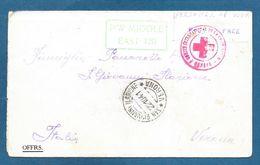PRISONER OF WAR MIDDLE EAST 120 1941 CROCE ROSSA CROIX ROUGE CAMP 309 - Documents
