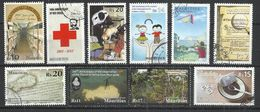 TEN AT A TIME - MAURITIUS - LOT OF 10 DIFFERENT COMMEMORATIVE  8 - USED OBLITERE GESTEMPELT USADO - Mauritius (1968-...)